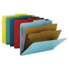 Smead Top-Tab Classification Folders w/ Fasteners