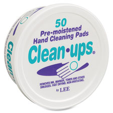 Lee Clean-Ups Pre-moistened Hand Cleaning Pads