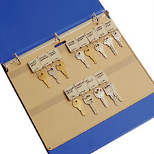 "Plastic key panel, 22 key capacity, 11-1/2""x1/4""x9"", beige, sold as 1 each"