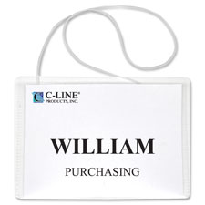 C-Line Hanging Style Name Badge Holders