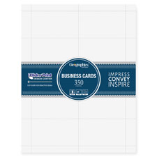 "Blank business cards, 65 lb., 3-1/2""x2"", 350/pk, white, sold as 1 package, 100 sheet per package"