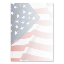 Geographics American Flag Letterhead Stationery