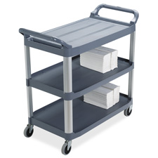 "Mobile utility cart,300 lb. cap,40-3/5""x20""x37-4/5"",gray, sold as 1 each"