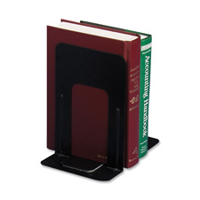 "Nonskid steel bookends, 5-7/8""x8-1/4""x9"", black, sold as 1 pair"