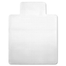 "Economy chairmat, low pile, std. lip 19""x10"", 36""x48"", clear, sold as 1 each, 12 each per each"