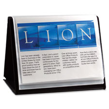 "Display book, horizontal easel, 11""x8-1/2"", black, sold as 1 each"
