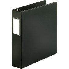 "3 ring label hold binder, 2""capacity, 11""x8-1/2"", black, sold as 1 each"