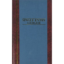 "Account book,s.e. ledger-ruled,150 pages,11-3/4""x7-1/4"",blue, sold as 1 each"
