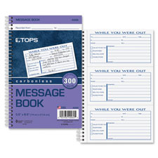 Tops Spiral Bound Important Message Book