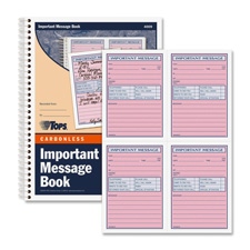 Tops Important Phone Message Book