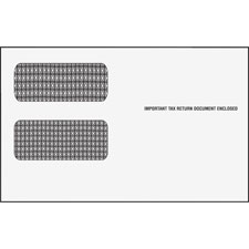 "Double window envelopes f/1099 form, 9""x5-5/8"", 500/ct, sold as 1 carton, 500 each per carton"