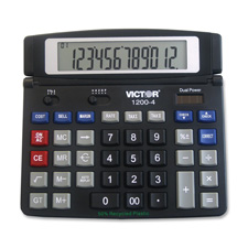 Victor 12-Digit Dual Power Desktop Calculator