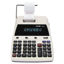 Victor 12-Dgt Fluorescent Disp. Desktop Calculator