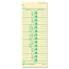 "Time cards, numbered days, 100/pk, 3-1/2""x9, sold as 1 package, 500 each per package"