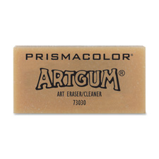"Artgum eraser, nontoxic, 1x1"", light brown, sold as 1 each, 2 each per each"