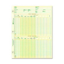 "National payroll sheet, 1 year, 10-7/8""x8-1/2"", 100sh/pk, sold as 1 package, 100 sheet per package"