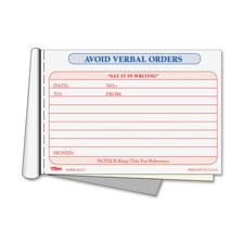 Tops Avoid Verbal Orders Books