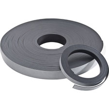 "Adhesive magnetic tape, flexible, 1""x100' roll, black, sold as 1 roll"
