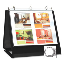 "Ring binder easel, 3/4"" cap, horizontal, 11""x8-1/2"", black, sold as 1 each"