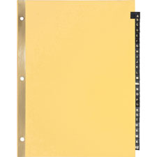 Sparco 01181 Black Leather Tab Indexes, A-Z, 8-1/2