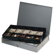 MMF Industries Heavy Gauge Steel Cash Box w/Tray
