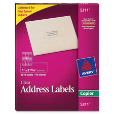 Avery Clear Professional Mailing Labels