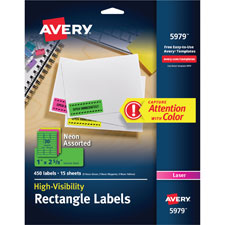 Avery Neon Laser Labels
