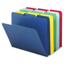 Smead 1/3 Cut Colored Pressboard Tab Folders