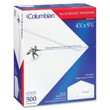 Columbian No. 10 Claim Form Window Envelopes