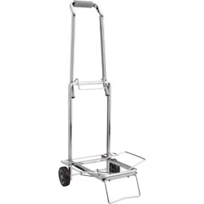 "Compact luggage cart,150 lb cap.,open 14-3/4""x13-3/4""x35"",ce, sold as 1 each"