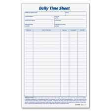 Tops Daily Time Sheet Form