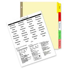 Kleer-Fax Deluxe Hi-Tech Insertable Index Dividers