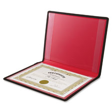 "Diploma/certificate holder, 2 pockets, vinyl,12""x9"", black, sold as 1 each, 25 each per each"