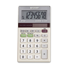 Sharp 8-Digit Dual-Power Pocket Calculator