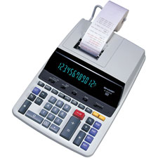 Sharp 12-Digit 2-Color Printer/Display Calculator