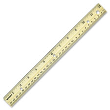Acme English/Metric Hardwood Ruler