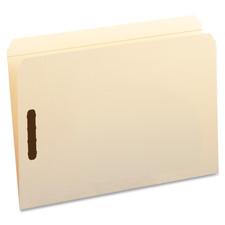Smead Straight Cut Tab File Folders w/ Fasteners