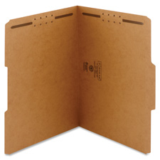 Smead Kraft 1/3 Cut File Folders w/ Fasteners