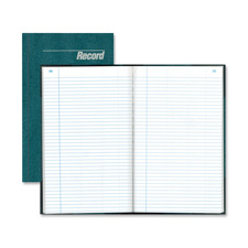 "Record book, record-ruled, 150 pages, 12-1/4""x7-1/4"", blue, sold as 1 each"