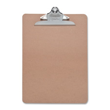 "Hardboard clipboard, nickel-plated clip, 6""x9"", brown, sold as 1 each, 3 roll per each"