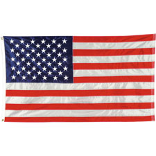 American flag, nylon stitched, 4'x6', sold as 1 each