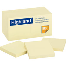 3M Highland Self-Sticking Note Pads