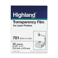 3M 701 Highland Laser Printer Transparencies