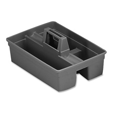 "Janitor carrier, for supplies, plastic, 16""x11""x5-1/4"", gray, sold as 1 each"