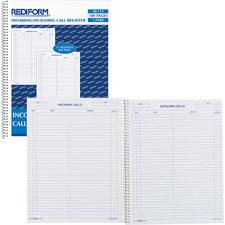 Rediform Incoming/Outgoing Call Register Book
