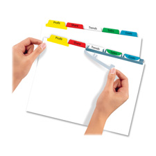 Avery Index Maker Punched Clear Label Tab Dividers