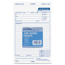 Tops Carbonless Three Part Job Work Forms