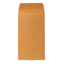 "Coin envelopes, gummed flap, 20 lb., 2-1/4""x3-1/2"", kraft, sold as 1 box, 100 each per box"
