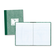 "Lab book,5""x5 quad,60 sh,10-1/8""x7-7/8"",green marble cover, sold as 1 each"