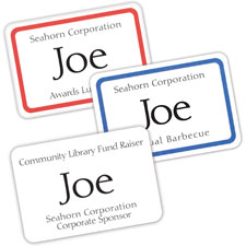 Avery 5095 Laser/Inkjet Name Badge Labels, 2-1/3'' x 3-3/8'', 400/BX, Red, AVE5095, AVE 5095